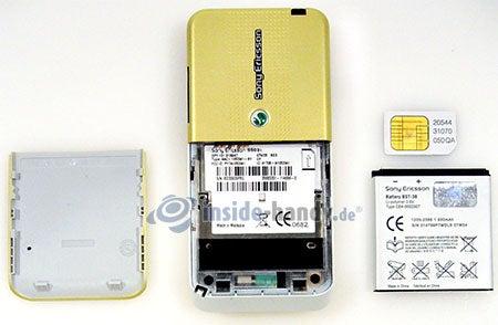Sony Ericsson S500i: zerlegt in Bestandteile