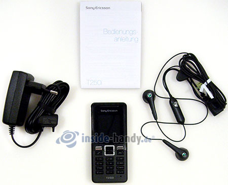 Sony Ericsson T250i: Lieferumfang