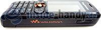 Sony Ericsson W200i: Draufsicht links