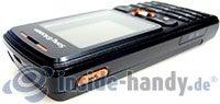 Sony Ericsson W200i: Draufsicht rechts oben