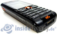 Sony Ericsson W200i: Draufsicht unten rechts