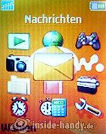 Sony Ericsson W200i: Hauptmenü