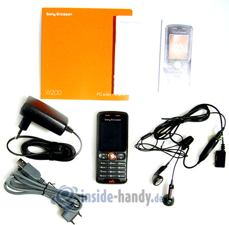Sony Ericsson W200i: Lieferumfang