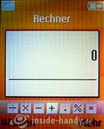 Sony Ericsson W200i: Rechner