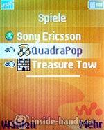 Sony Ericsson W200i: Spiele