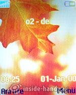 Sony Ericsson W200i: Startbildschirm