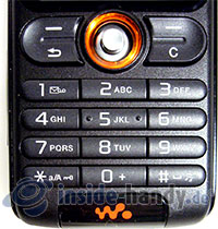 Sony Ericsson W200i: Tastatur