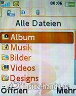 Sony Ericsson W610i: Alle Dateien