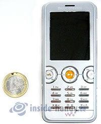Sony Ericsson W610i: Größenverhältnis