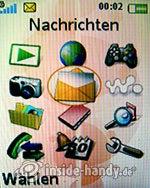 Sony Ericsson W610i: Hauptmenü