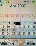 Sony Ericsson W610i: Kalender