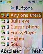 Sony Ericsson W610i: Ruftöne