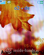 Sony Ericsson W610i: Startbildschirm