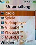 Sony Ericsson W610i: Unterhaltung