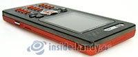 Sony Ericsson W880i: Draufsicht rechts oben