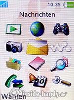 Sony Ericsson W880i: Hauptmenü