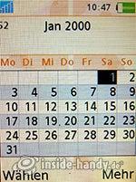 Sony Ericsson W880i: Kalender Monatsansicht