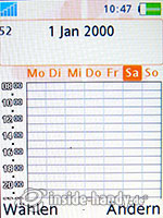 Sony Ericsson W880i: Kalender Wochenansicht