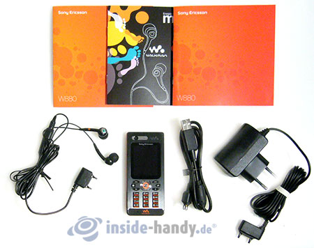 Sony Ericsson W880i: Lieferumfang