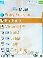 Sony Ericsson W880i: Musik