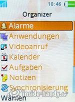 Sony Ericsson W880i: Organizer