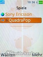 Sony Ericsson W880i: Spiele