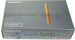 Sony Ericsson W880i: Verpackung