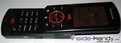Sony Ericsson W900i - aufgeklappt Front
