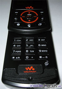 Sony Ericsson W900i - Tastatur