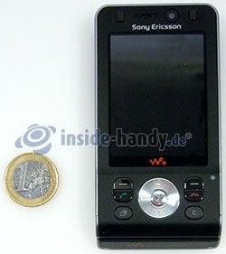 Sony Ericsson W910i: Größenverhältnis