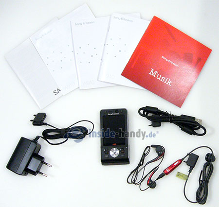 Sony Ericsson W910i: Lieferumfang
