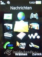 Sony Ericsson W910i: Menü
