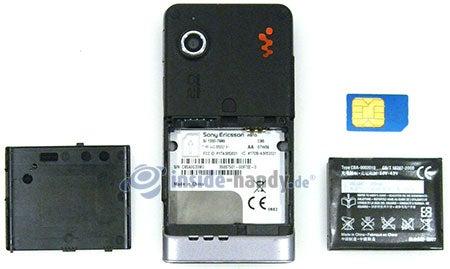 Sony Ericsson W910i: offenes Gerät hinten