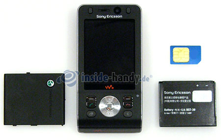 Sony Ericsson W910i: zerlegtes Gerät vorne