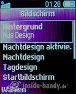 Sony Ericsson Z310i: Bildschirm