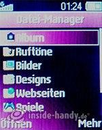 Sony Ericsson Z310i: Dateimanager