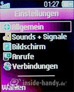 Sony Ericsson Z310i: Einstellungen