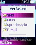 Sony Ericsson Z310i: Nachricht schreiben