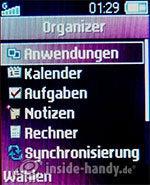 Sony Ericsson Z310i: Organizer