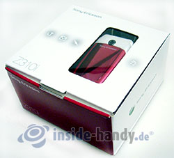 Sony Ericsson Z310i: Verpackung