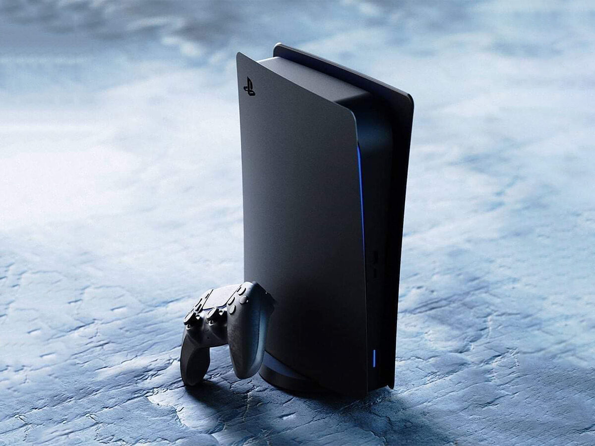 Sony PlayStation 5 in Schwarz (Konzept)