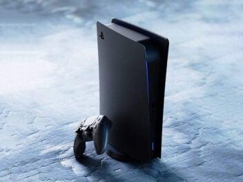 Sony PlayStation 5 in Schwarz (Konzept)