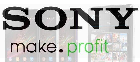 Sony-Slogan mit Smartphone im Hintergrund