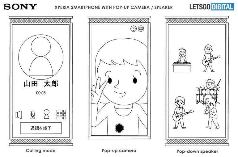 Patent für Sony-Smartphone mit Pop-Up-Lautsprechern