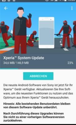 Sony Xpera XZ Firmware Update
