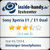 Sony Xperia E1: Testsiegel