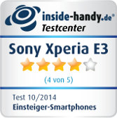 Sony Xperia E3 Testsiegel
