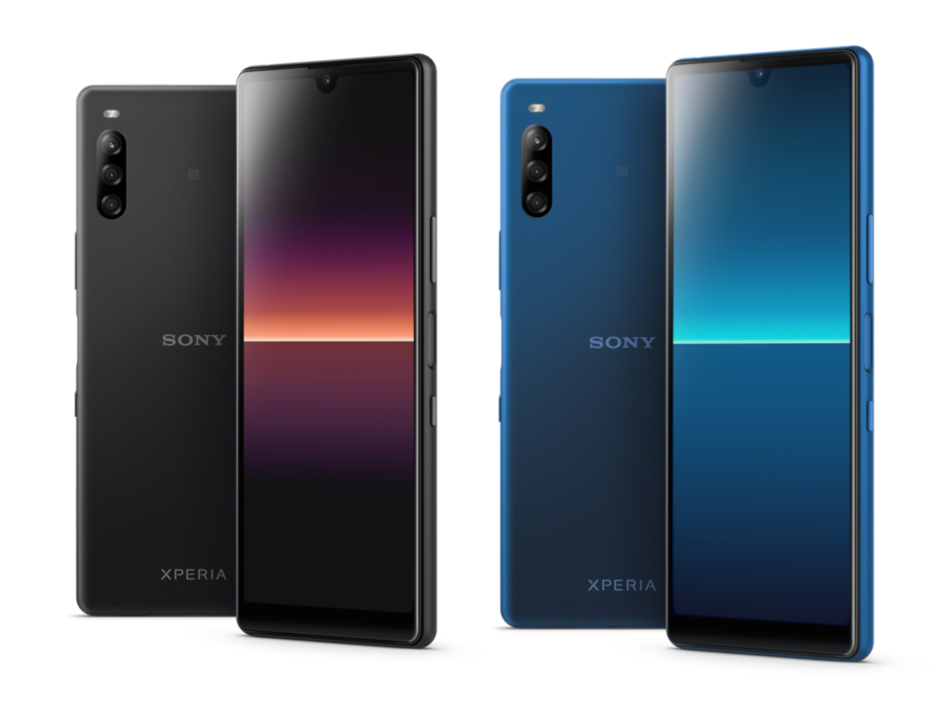 Sony Xperia L4 in Schwarz und Blau