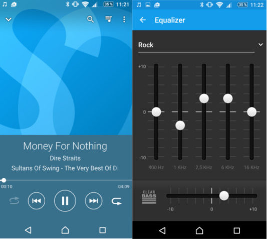 Sony Xperia M5 Musik-Player