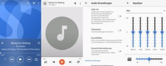 Sony Xperia XZ1 Musikplayer und Equalizer